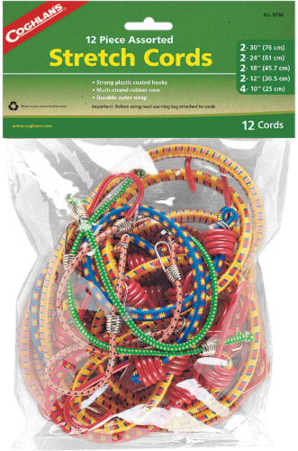 12-Pack Coghlan/'s Stretch Cord Assortment Coghlans 9750 Coghlans Stretch Cord Assortment