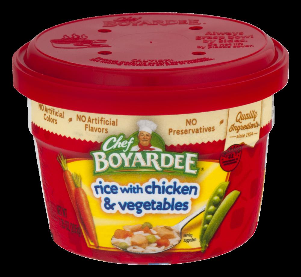 Chef Boyardee Rice With En Vegetable Microwavable Bowl 7 25 Oz