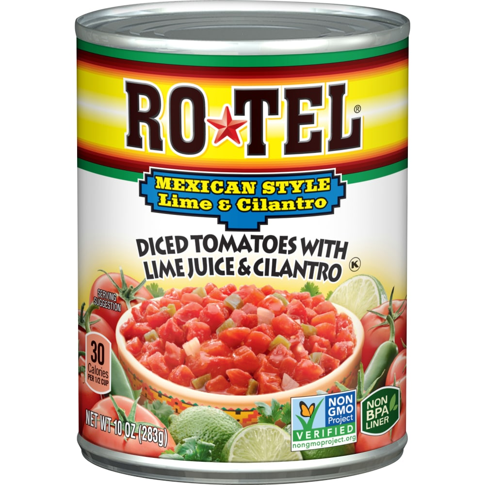 Kroger Rotel Mexican Style Lime Cilantro Diced Tomatoes 10 Oz