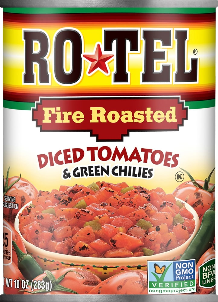 King Soopers Rotel Fire Roasted Diced Tomatoes Green Chilies 10 Oz