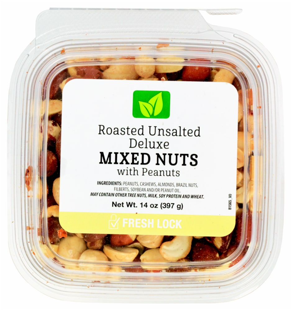 Fred Meyer - Roasted Unsalted Deluxe Mixed Nuts with Peanuts