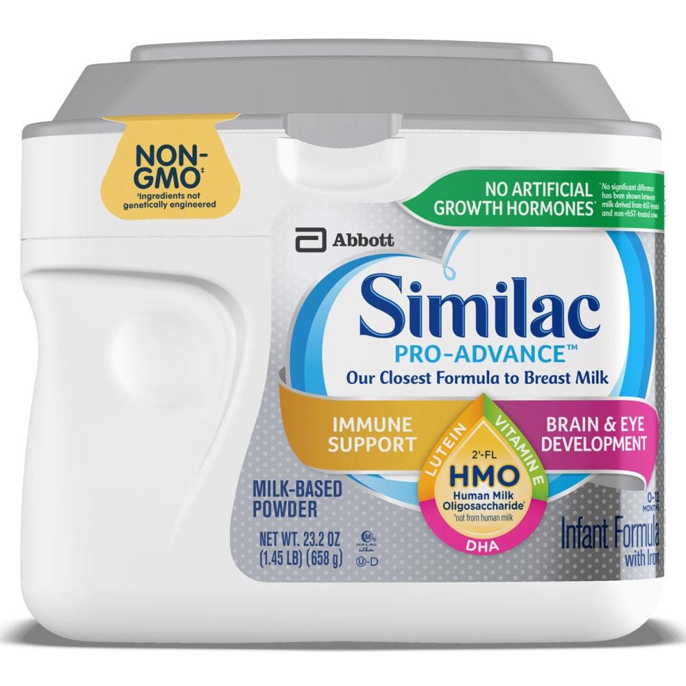 Alimentum Ready To Feed 2 Oz (max 3) similac pro-advance with 2'-fl hmo infant powder formula, 23.2 oz