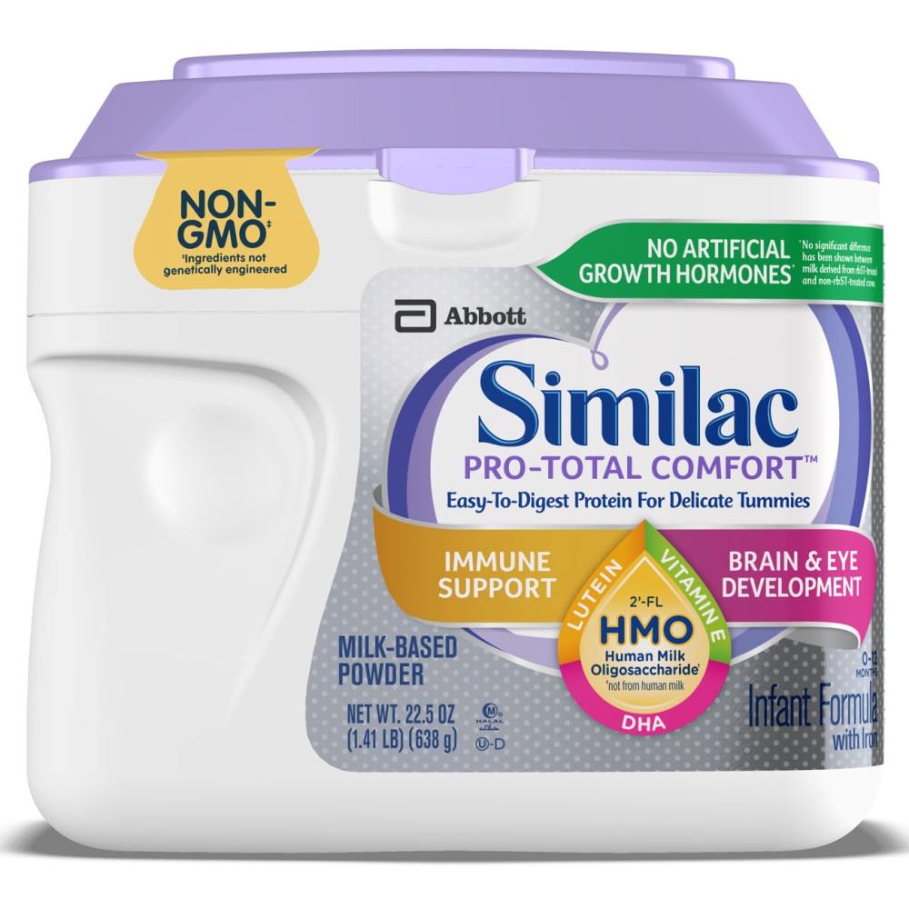 Kroger Similac Pro Total Comfort Non Gmo With 2 Fl Hmo Powder Infant Formula With Iron 22 5 Oz