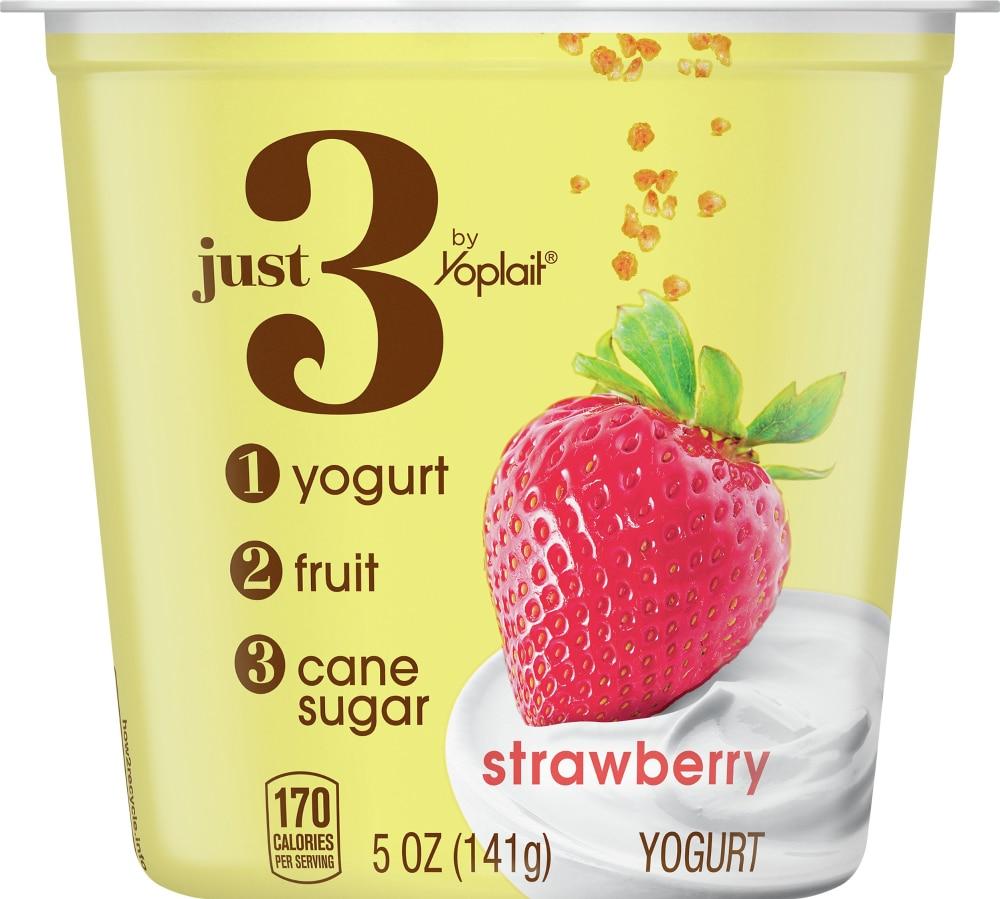 Yoplait Just 3 Strawberry Yogurt
