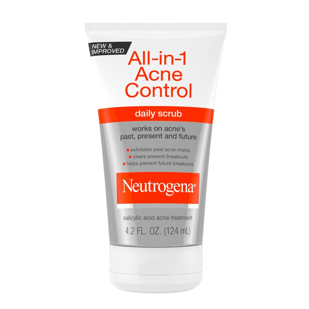 Qfc Neutrogena All In 1 Acne Control Daily Scrub 4 2 Fl Oz