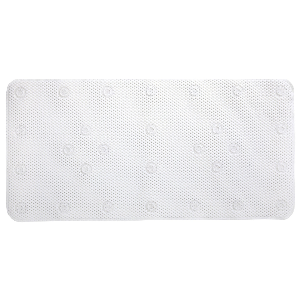 Medium Rubber Bath Safety Mat by SlipX Solutions White In-Tub Suction Cup Mat