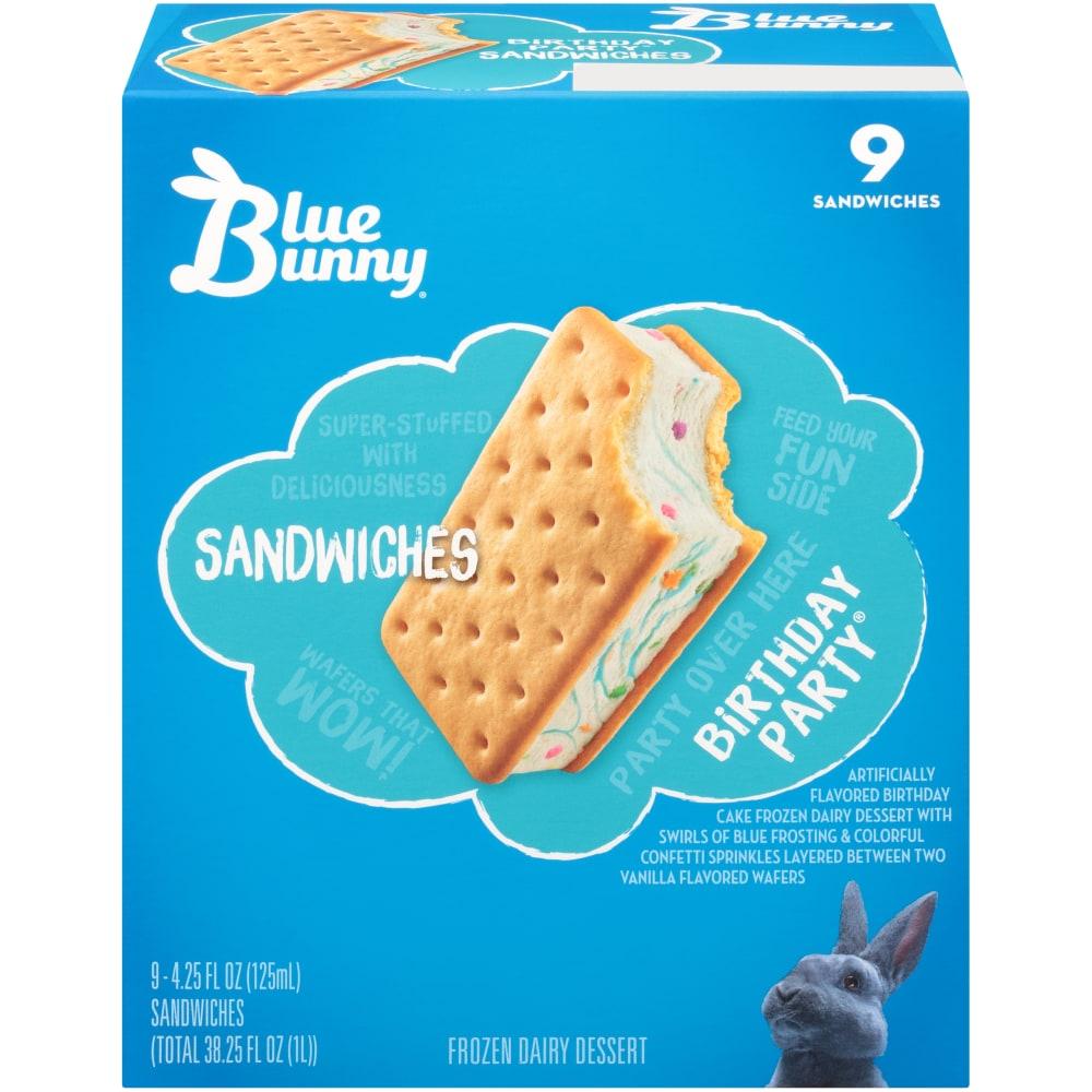 Fantastic Pick N Save Blue Bunny Birthday Party Ice Cream Sandwiches 9 Funny Birthday Cards Online Aeocydamsfinfo
