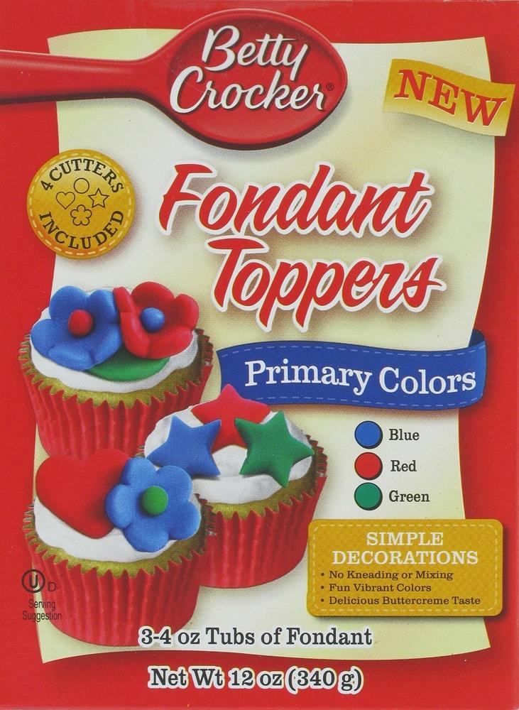 Owen\'s - Betty Crocker Primary Colors Fondant Toppers