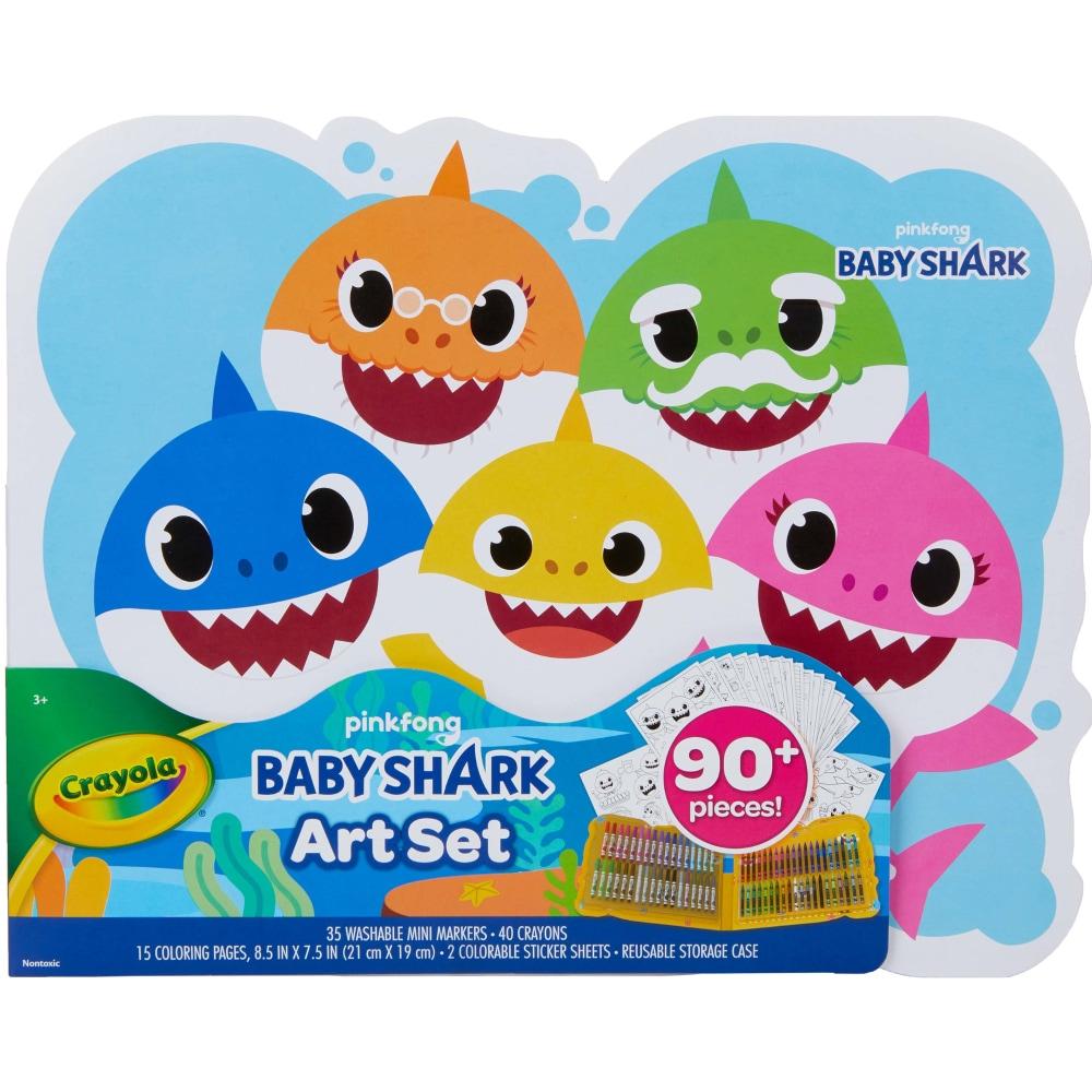 Crayola Pinkfong Baby Shark Art Set, 18 ct