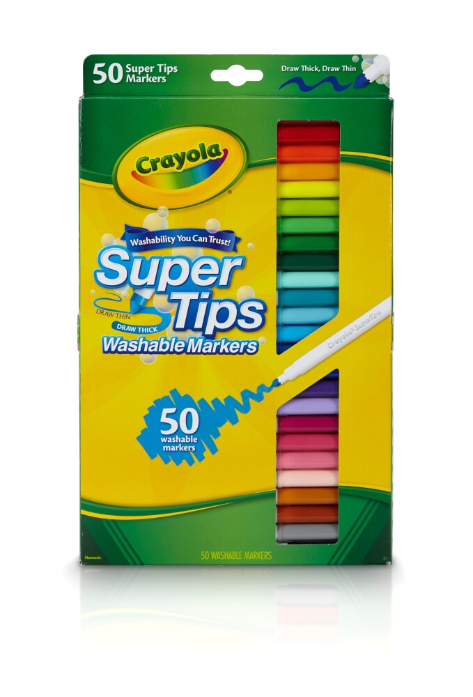 Crayola Supertips washable markers felt tips kids 12 pack