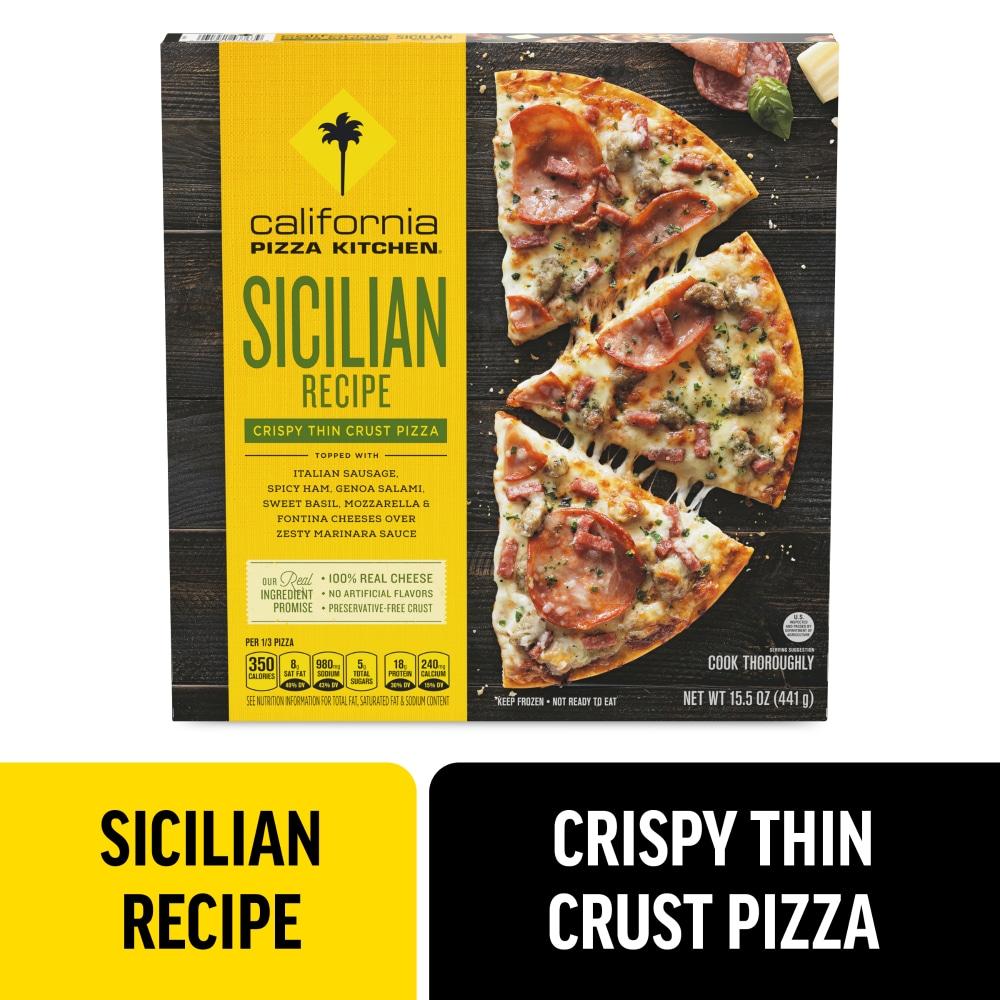 California Pizza Kitchen Sicilian Recipe Crispy Thin Crust Frozen Pizza 15 5 Oz