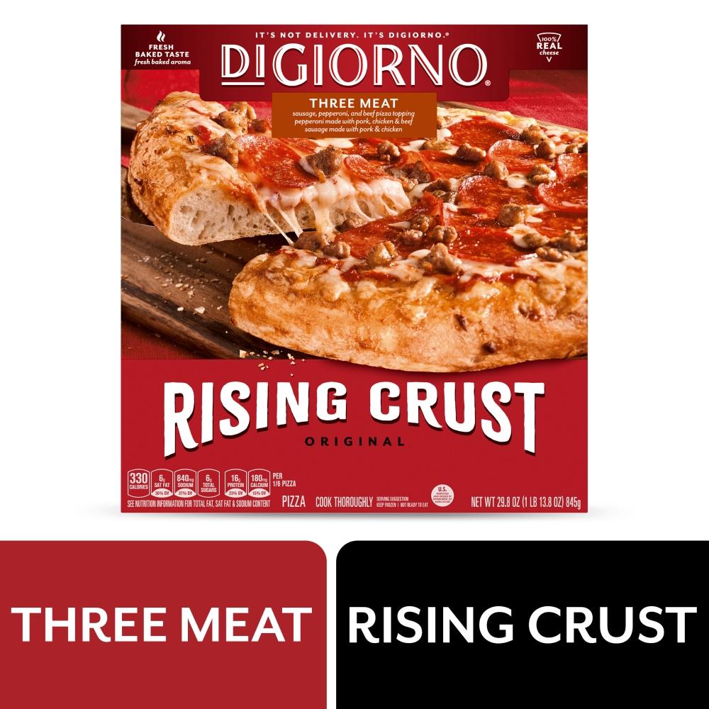 Ralphs Digiorno Original Rising Crust Three Meat Pizza