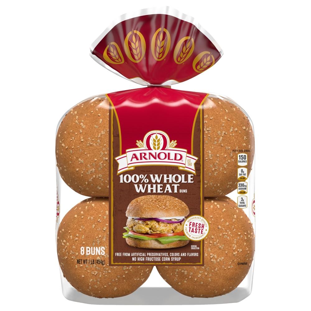 Arnold 100% Whole Wheat Sandwich Buns