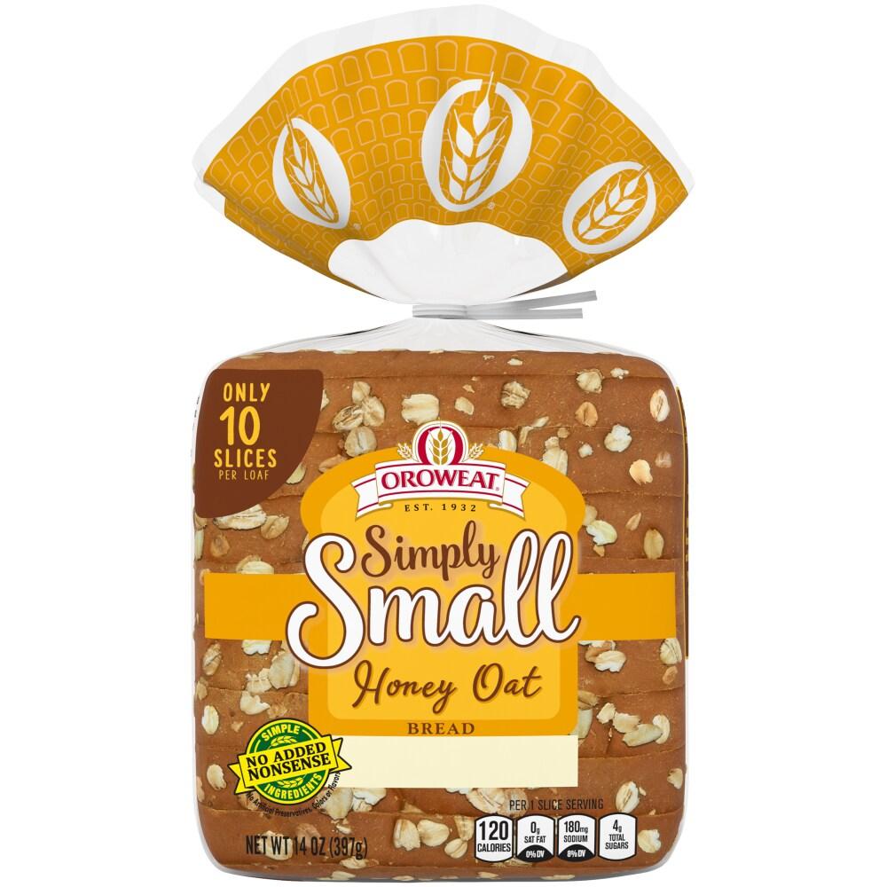 Oroweat Simply Small Honey Oat Bread, 14 oz