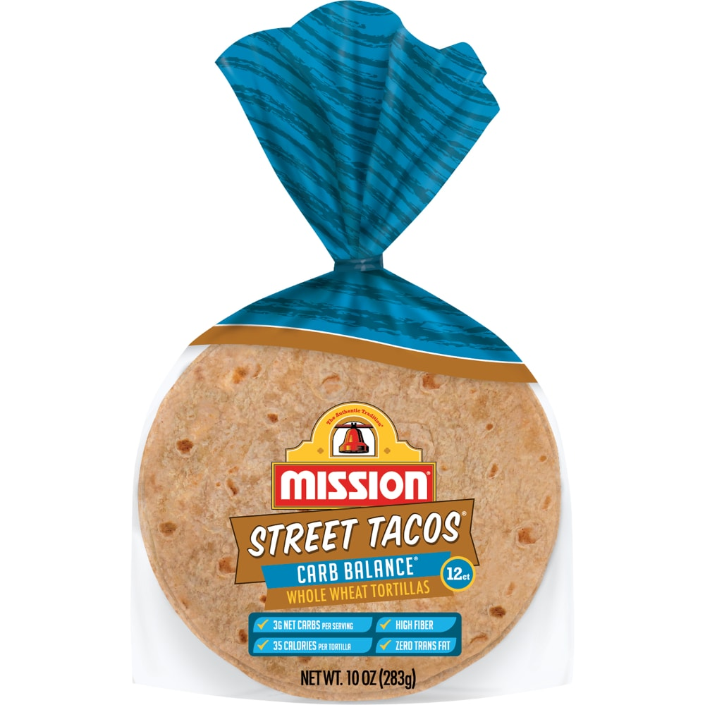 King Soopers Mission Street Tacos Carb Balance Whole Wheat Tortillas 12 Count 10 Oz