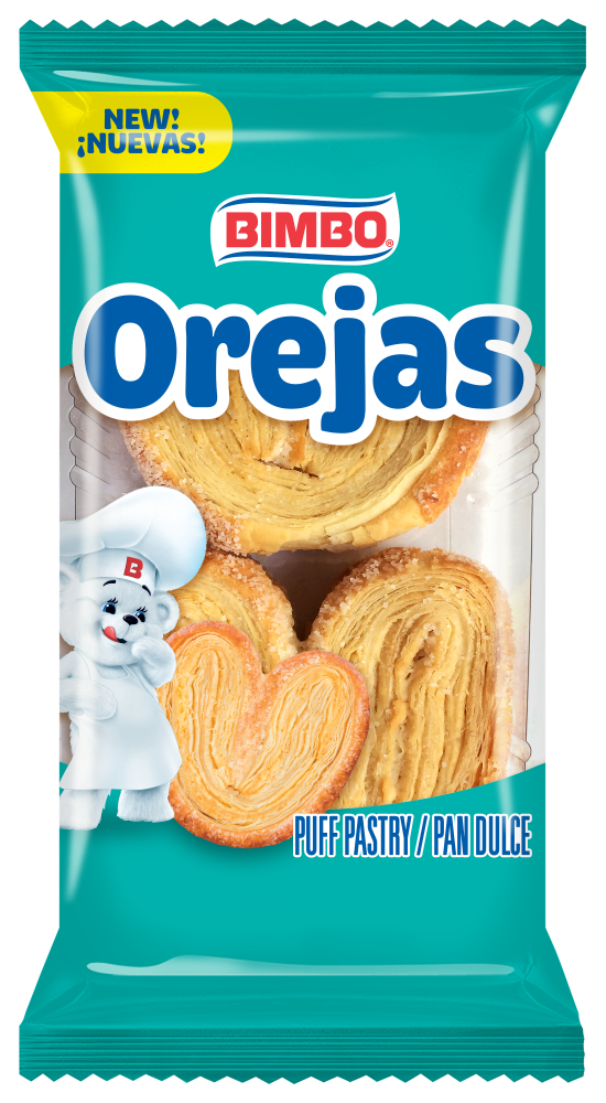 Foods Co Bimbo Orejas Sweet Puff Pastries 2 Count 3 53 Oz