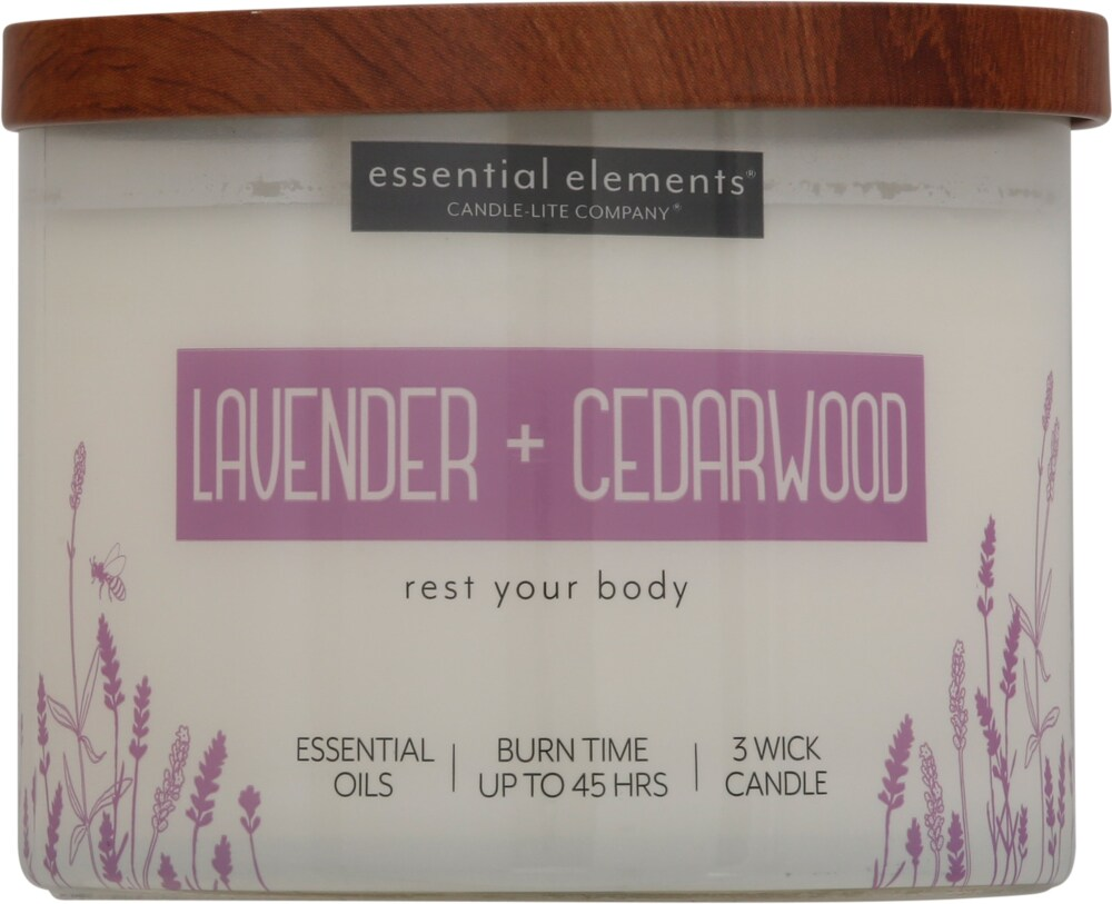 ELEMENT 9oz Scented Soy Candle Clean 3