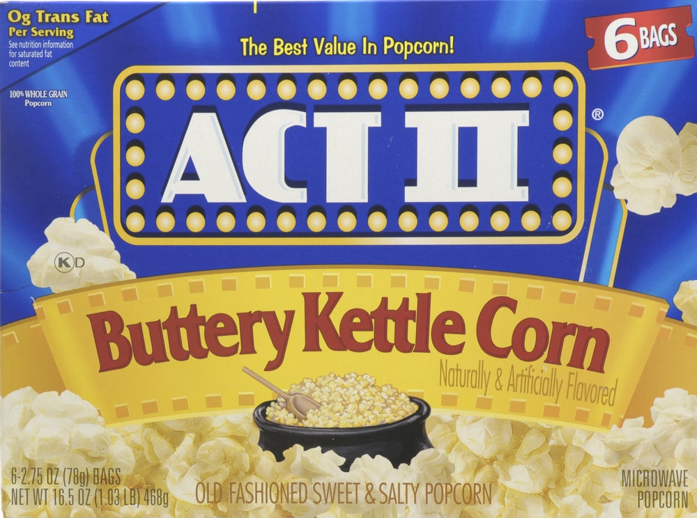 City Market Act Ii Buttery Kettle Corn Popcorn 6 Count 16 5 Oz
