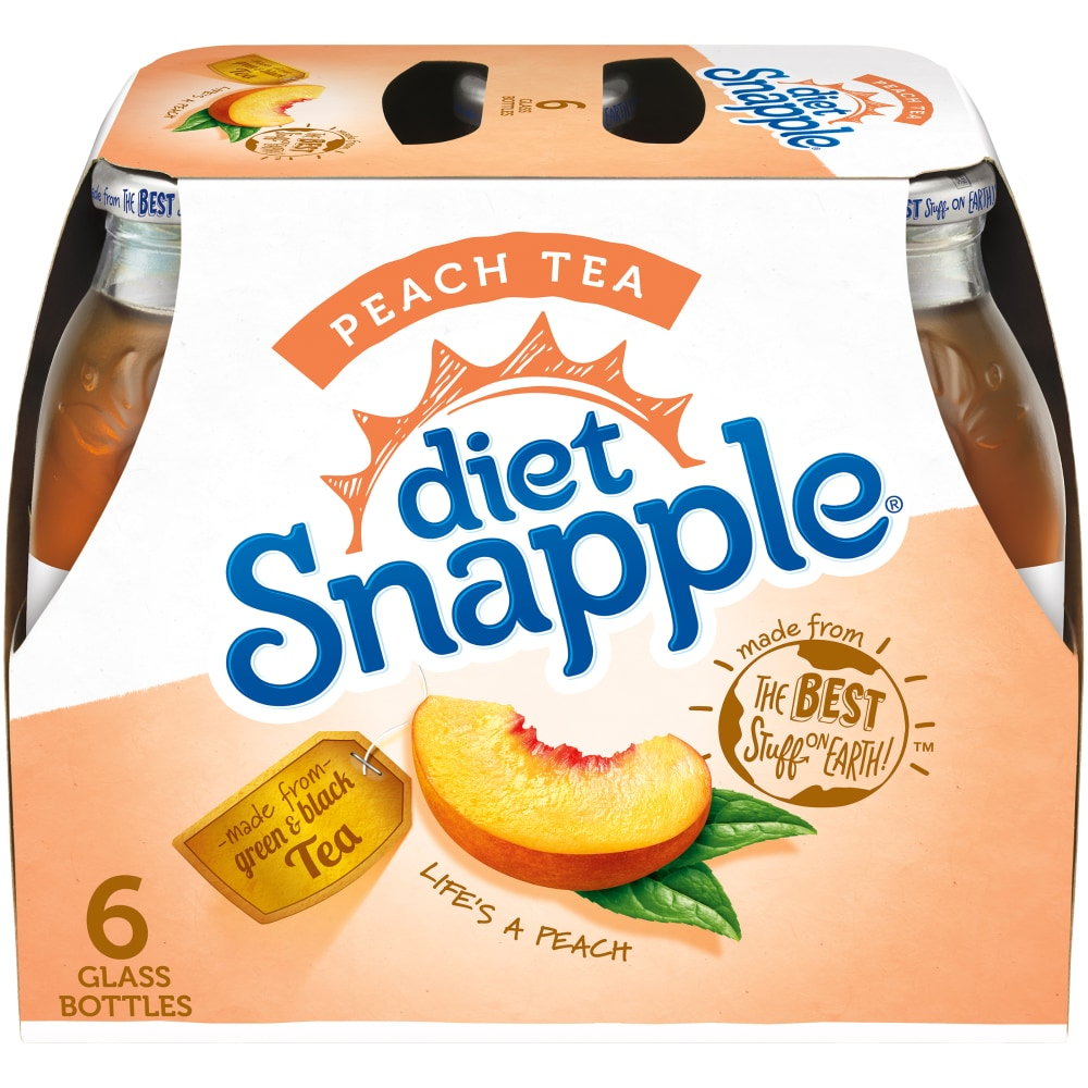 is there caffeine in diet snapple peach tea