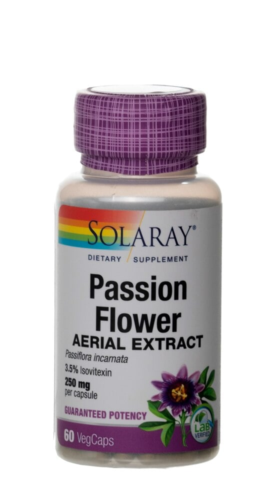 Kroger Solaray Passion Flower Extract 250 Mg 60 Vegcaps