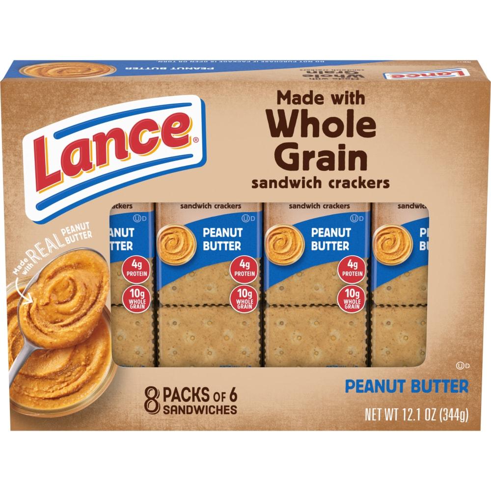 Lance Real Peanut Butter Whole Grain Sandwich Crackers 8 Ct 6 Ct