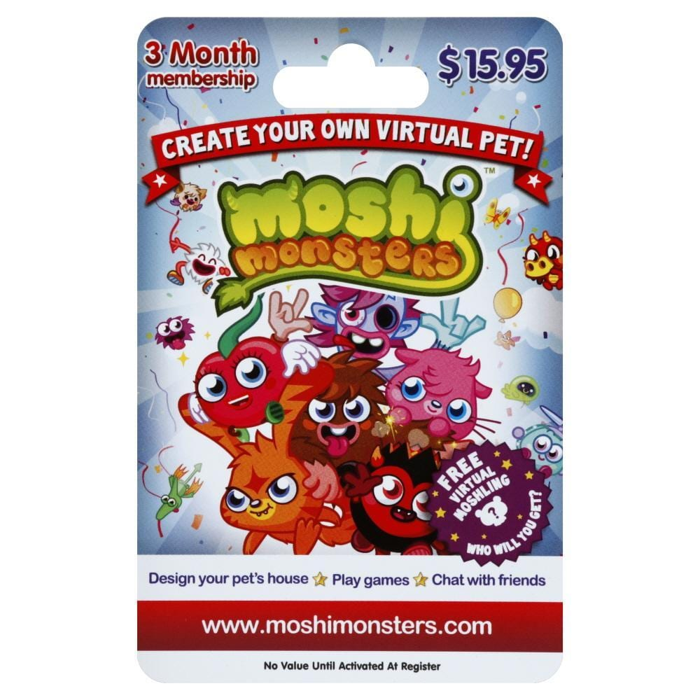 Foods Co Moshi Monsters 3 Month Gift Card 1 Count