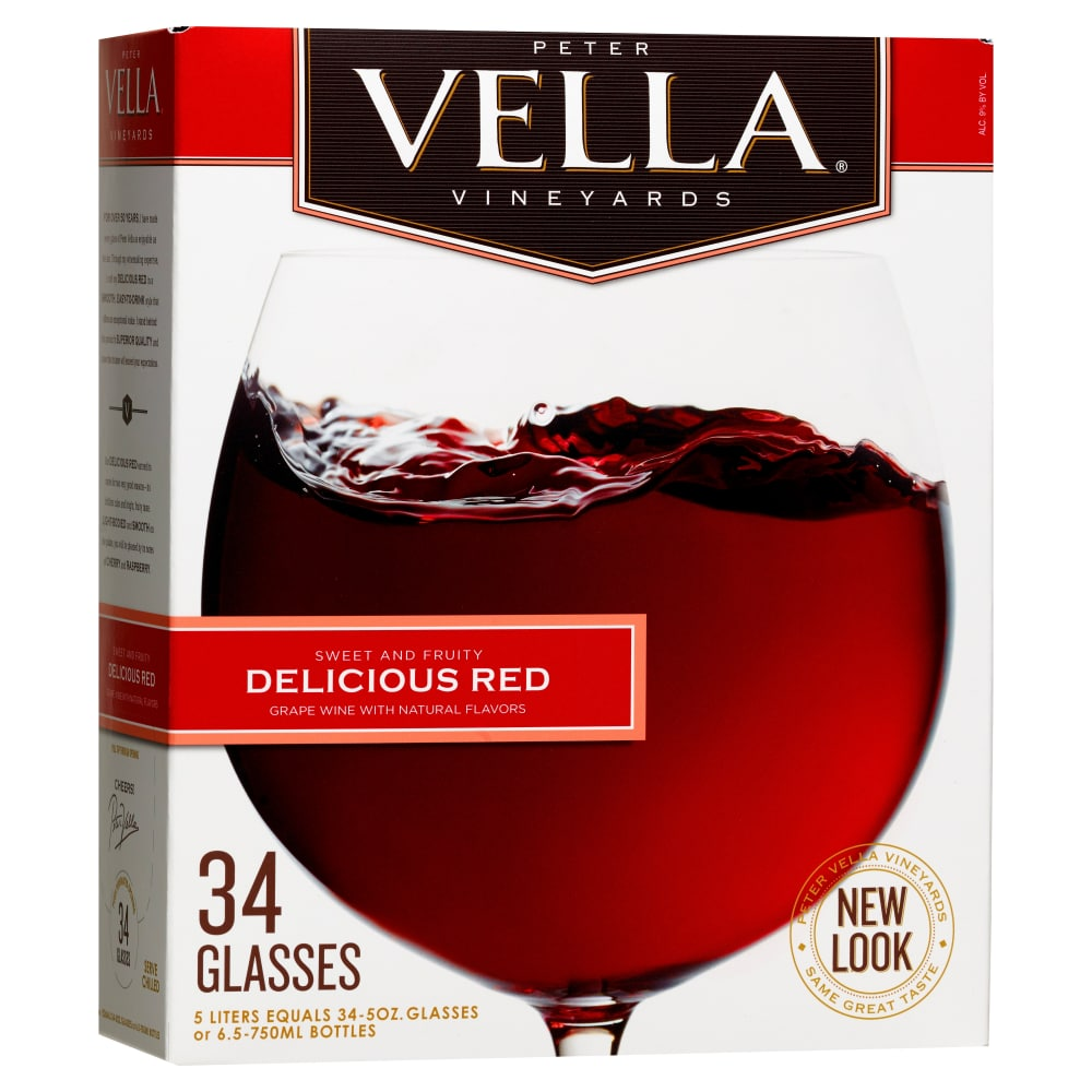 Foods Co Peter Vella Vineyards Sweet Red Wine 5 L