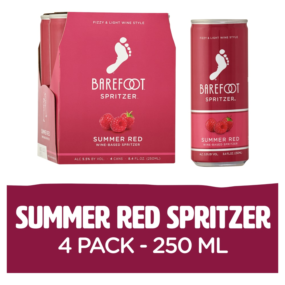 King Soopers - Barefoot Spritzers Summer Red Sweet Red Wine