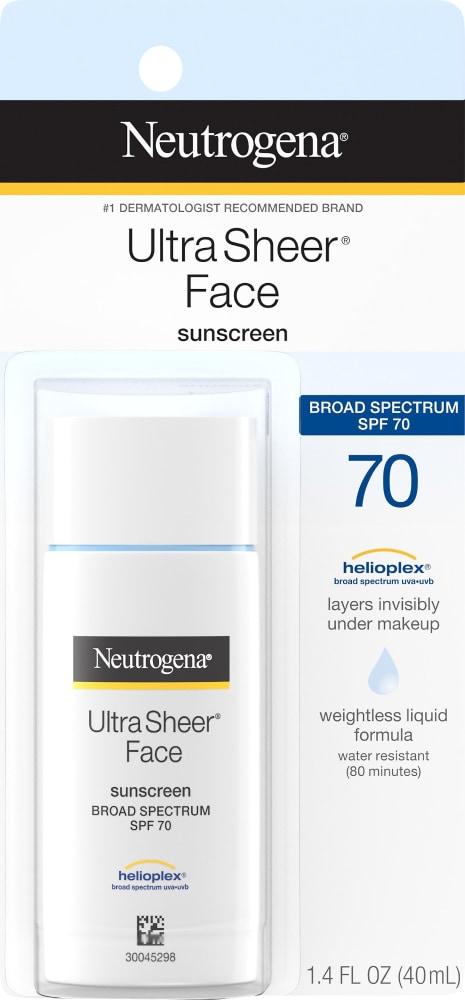 Neutrogena Ultra Sheer Liquid Sun Screen SPF 70, 1.4 fl oz - Pick 'n Save