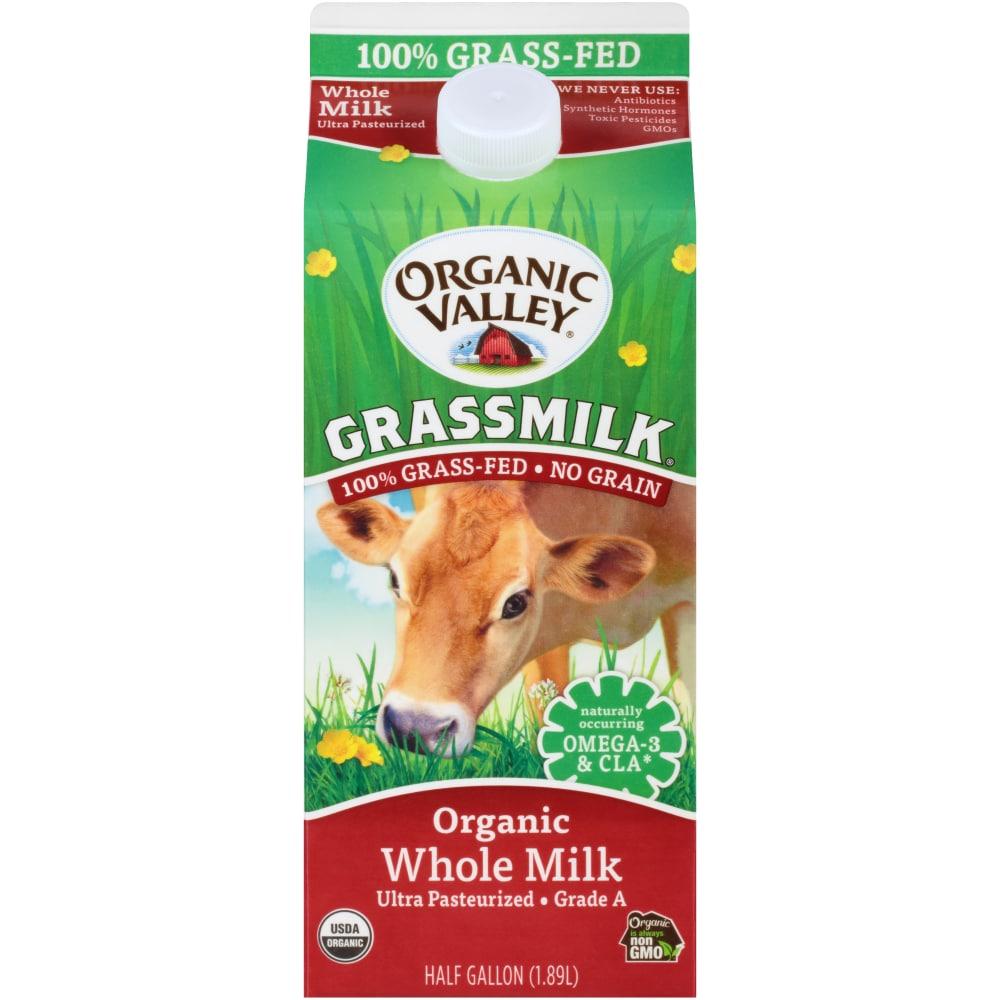 Ralphs Organic Valley Grass Fed Organic Whole Milk 1 2 Gal