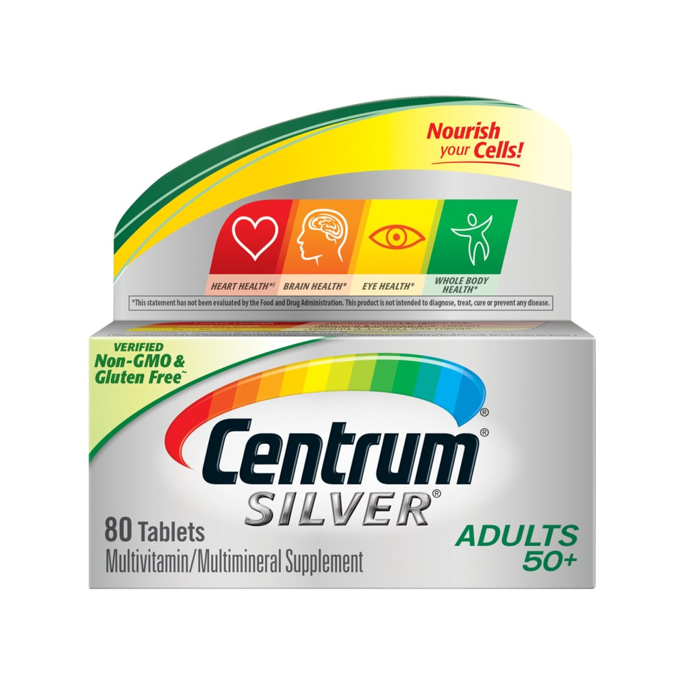 King Soopers Centrum Silver Adults 50 Multivitamin Multimineral Supplement Tablets 80 Count 80 Ct