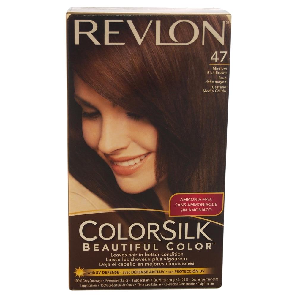 Fred Meyer Revlon Colorsilk 47 Medium Rich Brown Hair Color