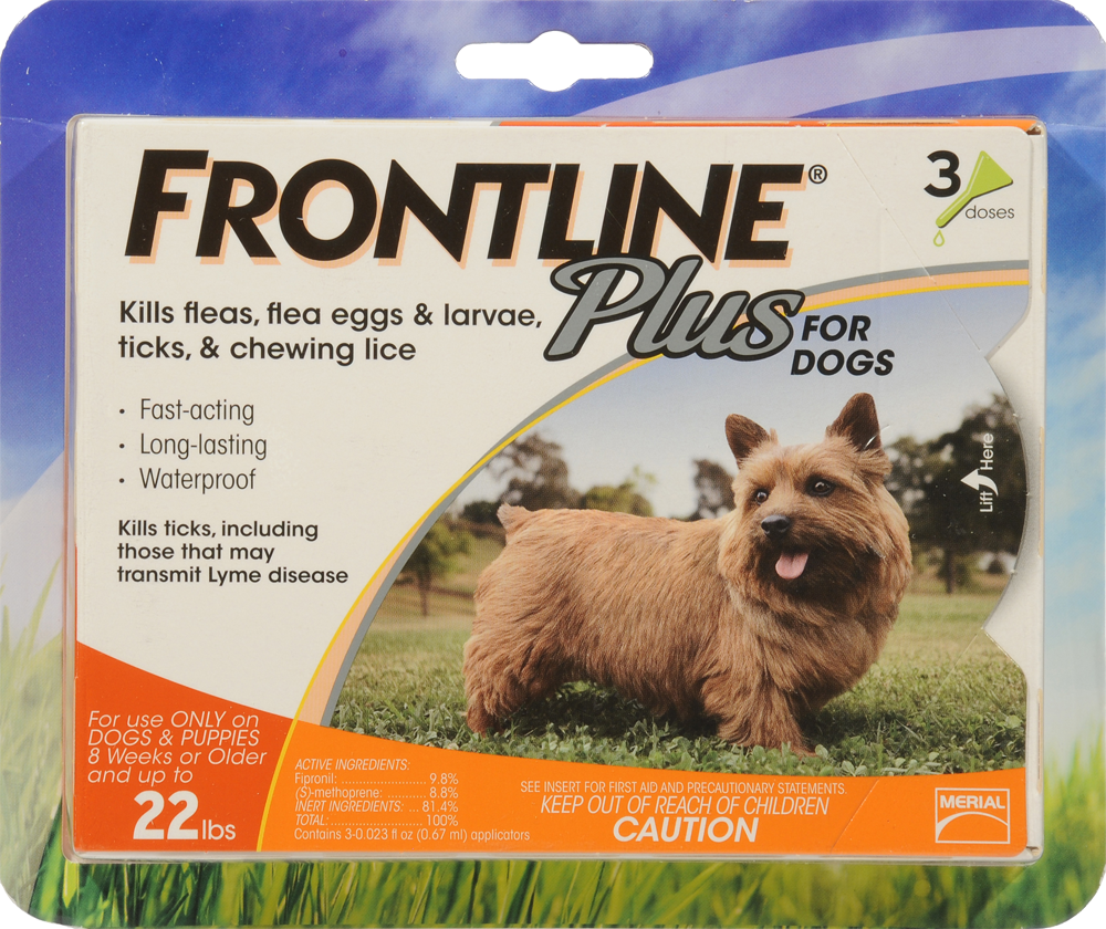 Frontline Plus For Small Dogs Perspective Front