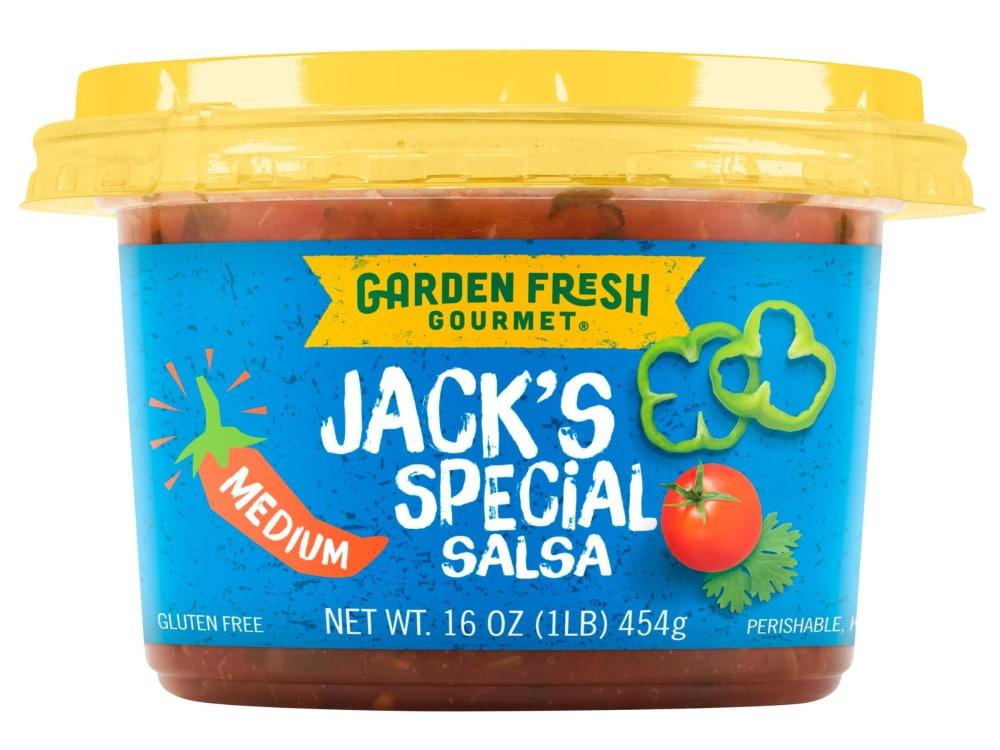 garden fresh gourmet jacks special medium salsa perspective front - Garden Fresh Gourmet