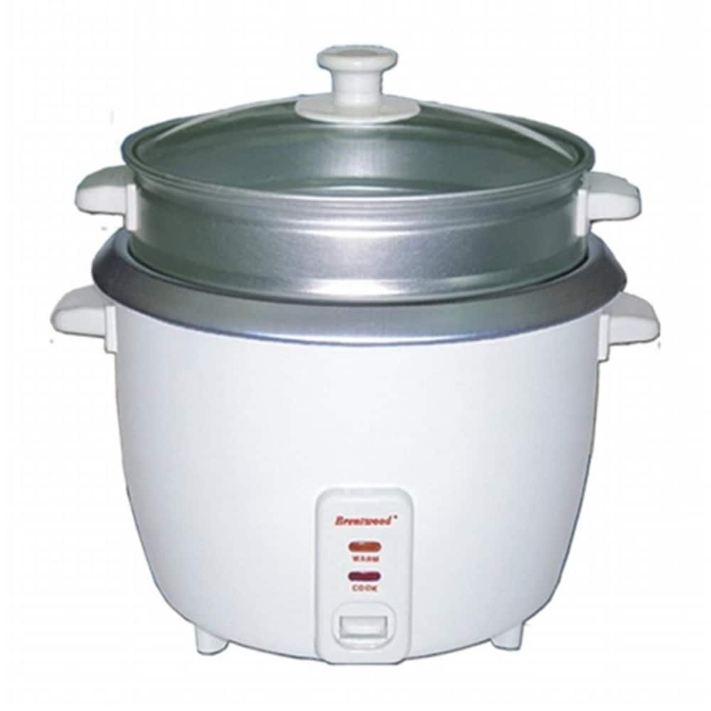Dillons Food Stores 8 Cup 1 5 Liter Rice Cooker With Steamer White Body 1