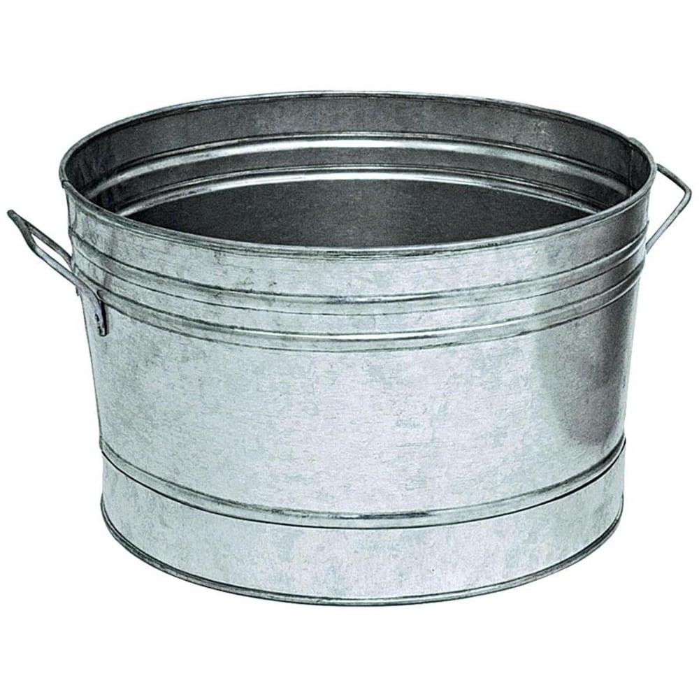 Food 4 Less 12 In Galvanized Round Tub Planter 1