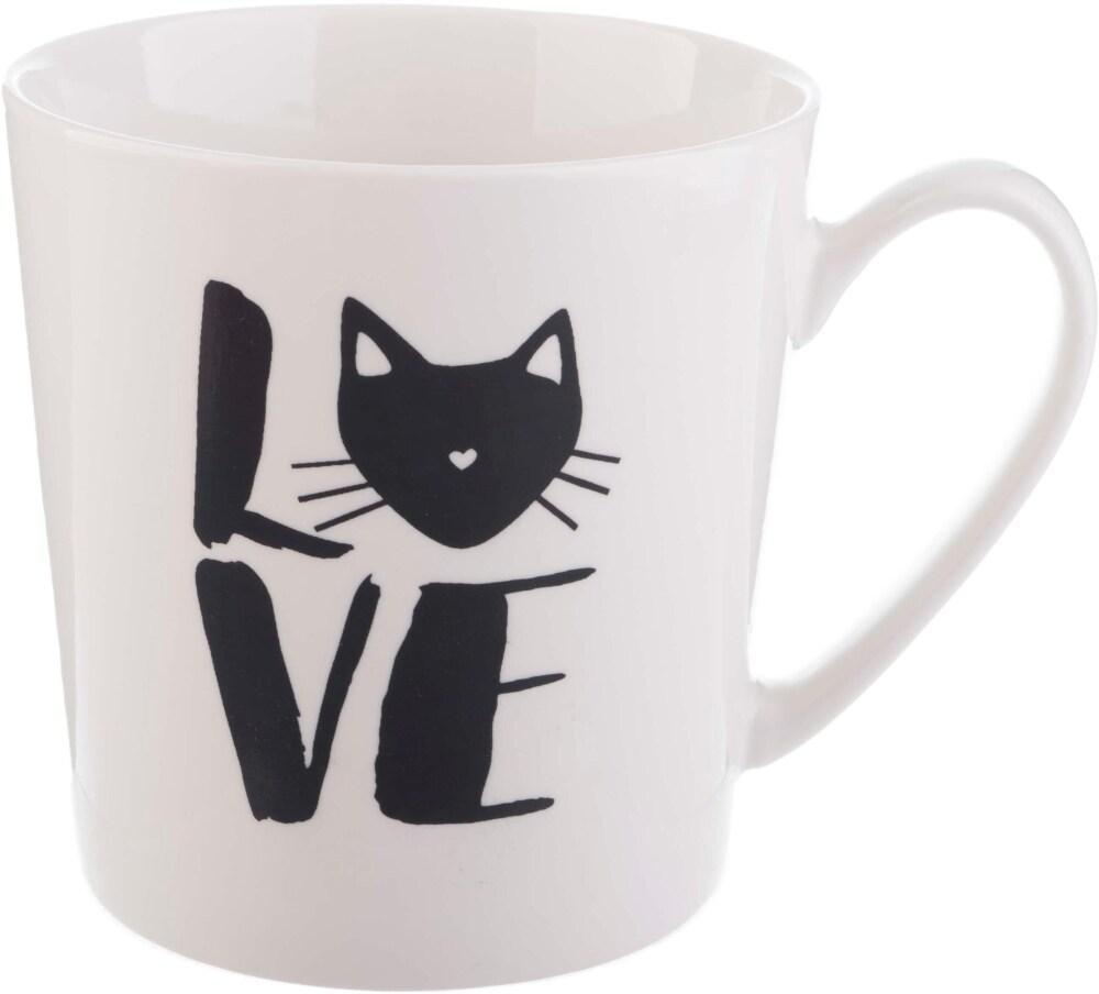 Fry S Food Stores Pacific Market International Love Cat Flare Mug White 17 Oz