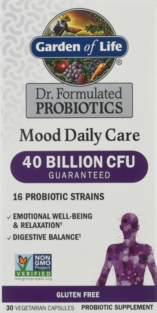 Garden Of Life Dr Formulated Probiotics Mood Daily Care Capsules 30 Ct Kroger
