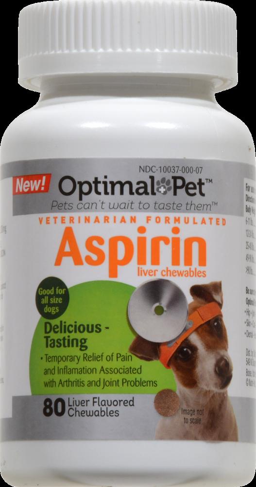 Kroger Optimal Pet Liver Flavored Aspirin Chews 120mg 80 Ct