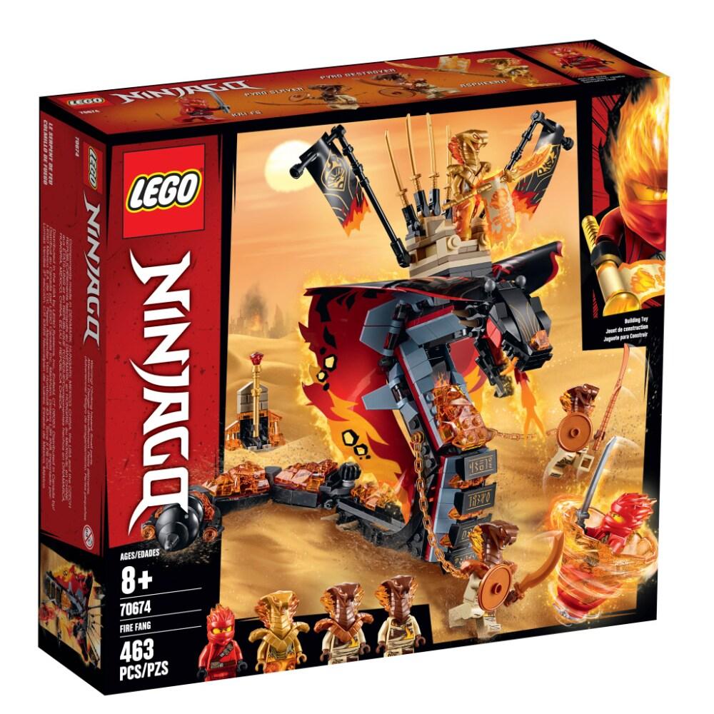 Kroger Lego Ninjago Fire Fang Building Toy 463 Pc