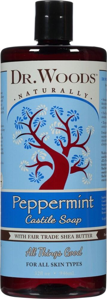 Dr. Woods Pure Peppermint Castile Soap ...