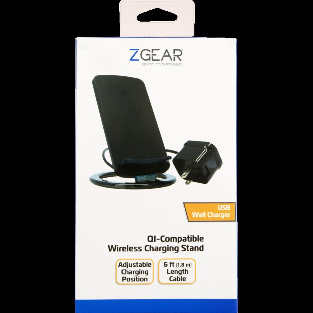 Kroger - ZGear QI-Compatible Wireless Charging Stand - Black