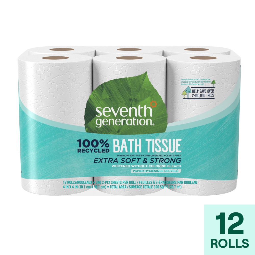 Seventh Generation 100 Recycled Paper Extra Soft Strong Bath Tissue 12 Rolls Ralphs
