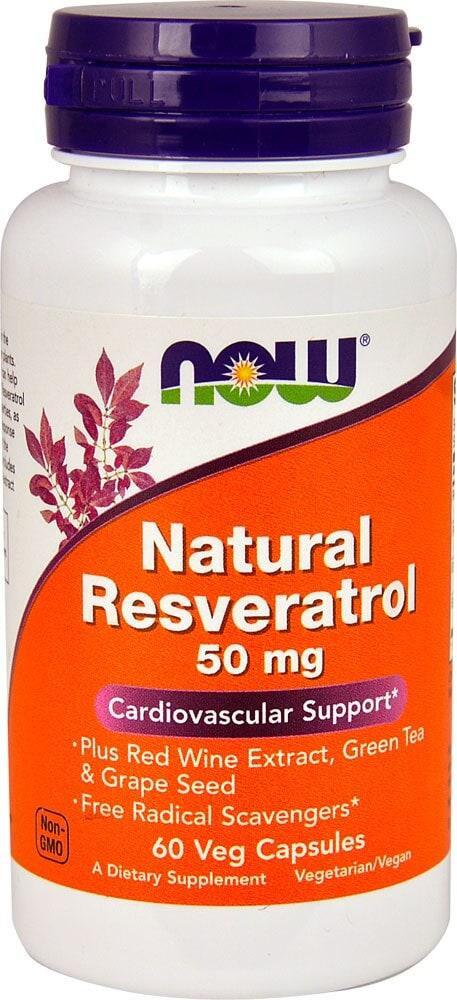 Kroger Now Foods Natural Resveratrol 50 Mg 60 Veg Capsules