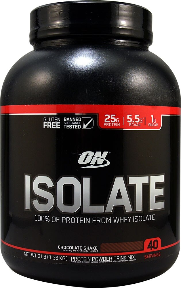 Food 4 Less Optimum Nutrition Isolate 100 Whey Protein Isolate Chocolate Shake 3 Lbs