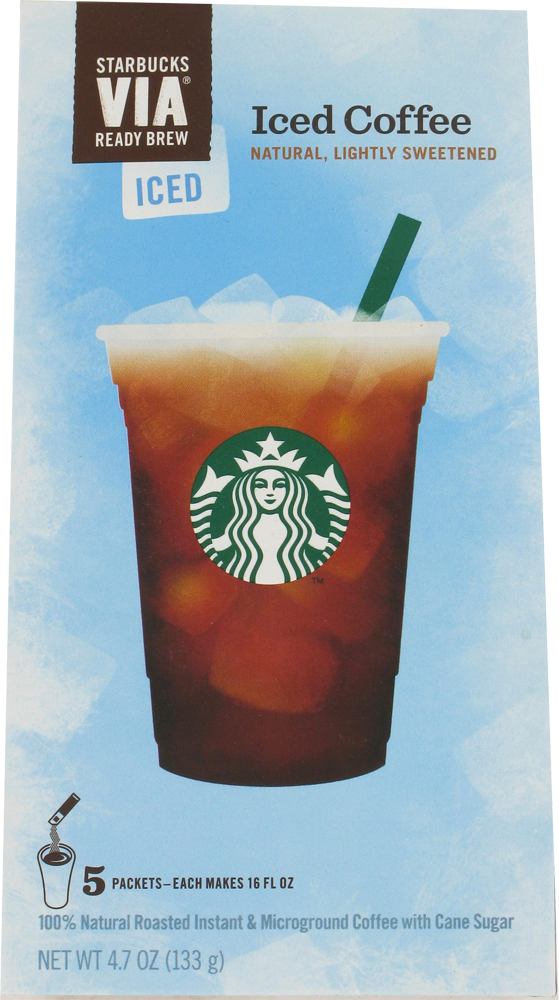 Fry S Food Stores Starbucks Via Iced Coffee Packs 5 Count
