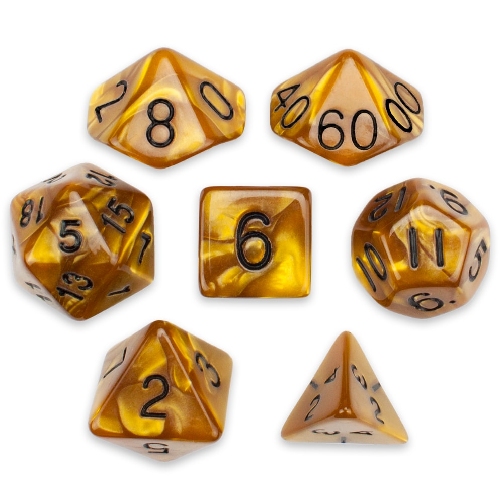Wiz Dice 7 Die Polyhedral Dice Set in Velvet Pouch Opaque Green