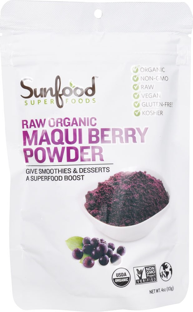 Food 4 Less Sunfood Raw Organic Maqui Berry Powder 4 Oz