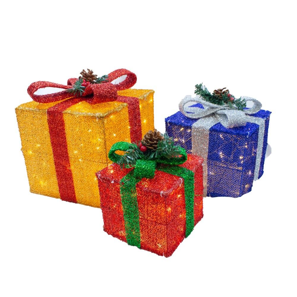 Fry S Food Stores Joyin Christmas Light Gift Box Decorations 3 Pk