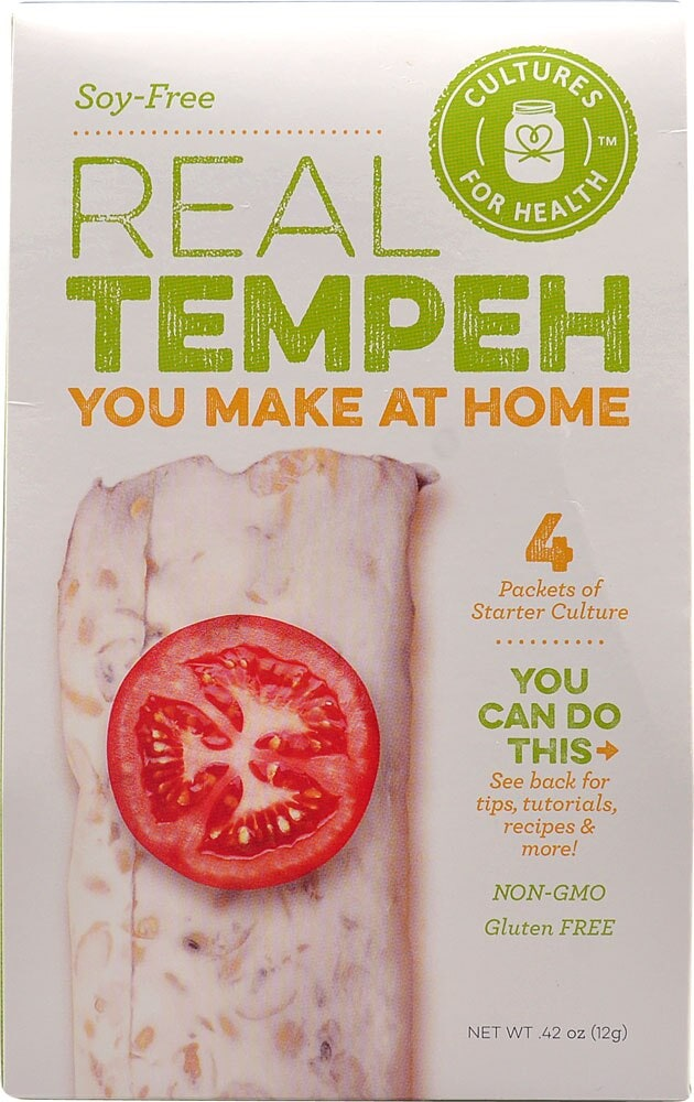 Ralphs Cultures For Health Soy Free Real Tempeh Starter Culture 4 Packets 42 Oz